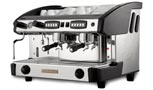 NEW ELEGANCE Control 2 GR black, crem international, Automatic espresso coffee machine with 2 groups